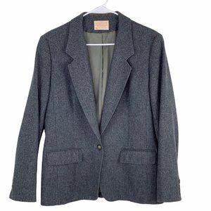 Vintage Pendelton Virgin Wool Gray Blazer 12